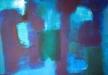Blaue  Komposition-40x40